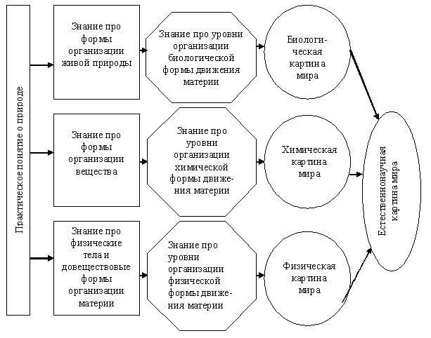 Схема химическая картина мира